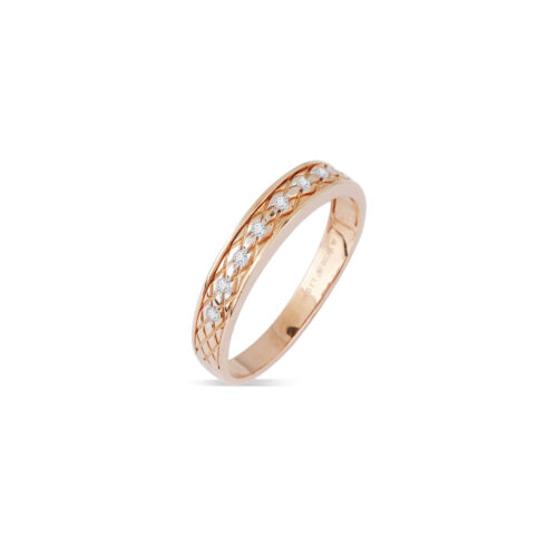Faceted Gold Band Men's