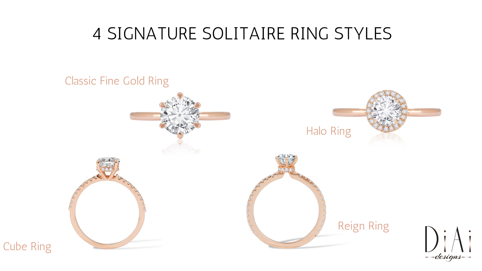 4 Signature Solitaire RingStyles
