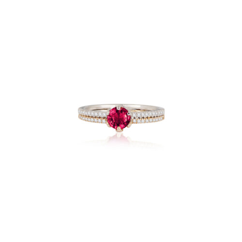 Double Band Ruby Ring