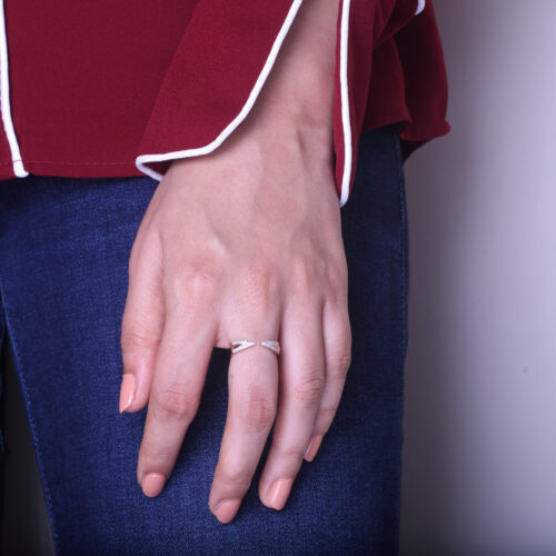 Double-Ended Open Diamond Ring