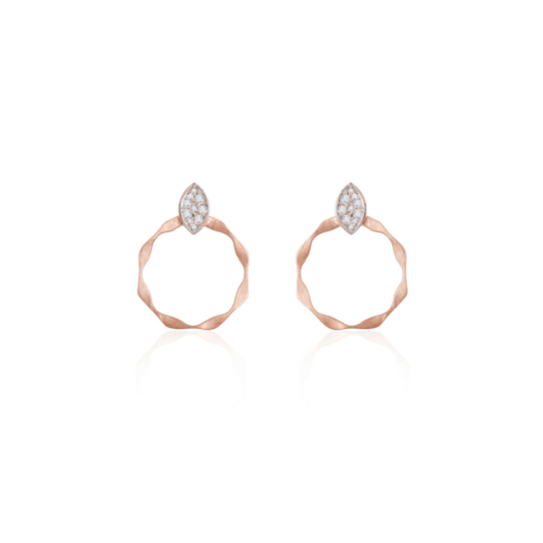 Marquise Twisted Hoops