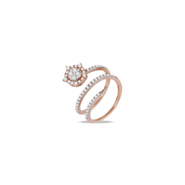 Triple Wrap Cluster Ring