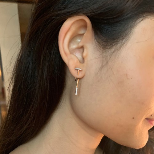 Archi-Structured Bar Earrings