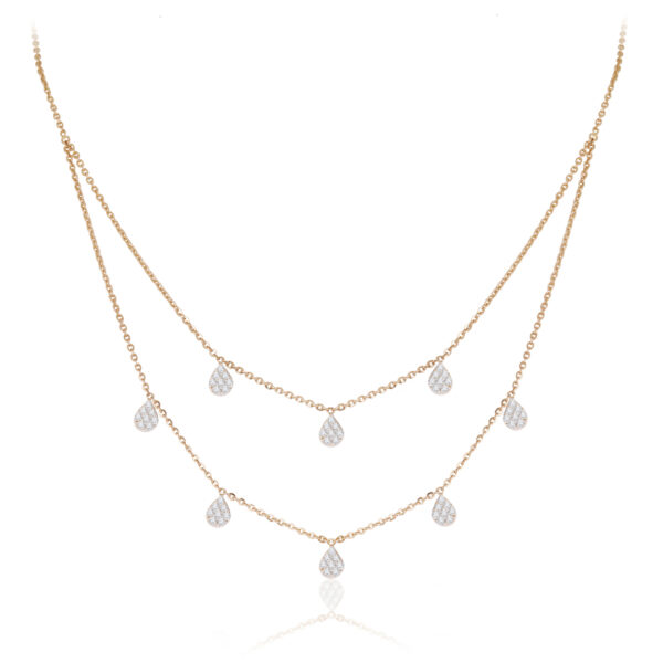 Double Layer Teardrop Necklace