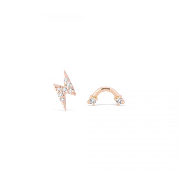 Lightning and Rainbow Curated Pair Studs
