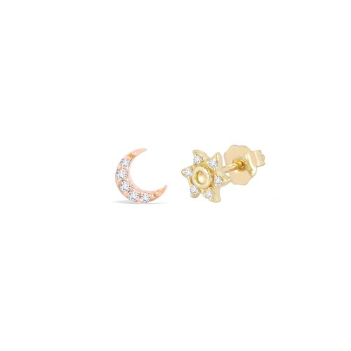 Moon & Sun Curated Pair Studs